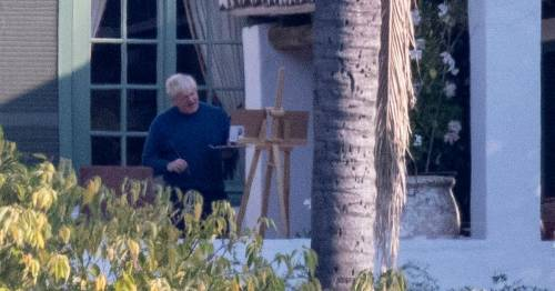 Boris Johnson returns to easel without a care in world at millionaire's villa