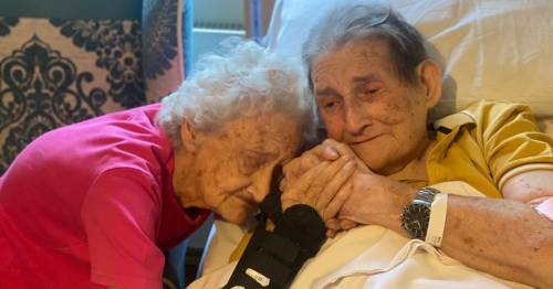 Inseparable husband and wife reunited after 70 years together and 100 days apart