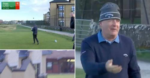Piers Morgan mocked after awful tee shot at St Andrews smashes into hotel